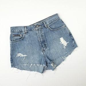 Calvin Klein Vintage Hi Waist Jean Shorts Sz 8 nwt